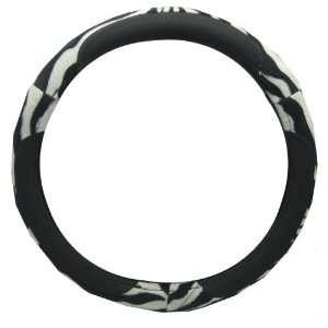 White Zebra Tiger Animal Print Vinyl Car Truck SUV Steering Wheel