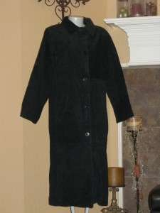NEW CENTIGRADE Black Full Length Washable Suede Ladies Coat Small