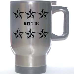 Personal Name Gift   KITTIE Stainless Steel Mug (black