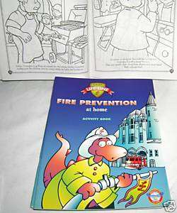 New Fire Prevention Home Safety Activity Coloring Book