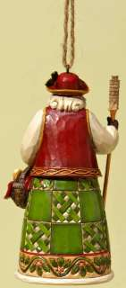 enesco jim shore heartwood creek italian santa hanging ornament