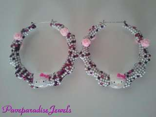 HELLO KITTY CRYSTAL BAMBOO POPARAZZI INSPIRED EARRINGS LAST PAIR IN