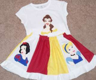 Custom Princess Cinderella Belle Snow Applique Set SOFH
