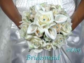 BEAUTIFUL PRINCESS MALIBU Wedding Bouquet Bridal Bridesmaid Love Silk