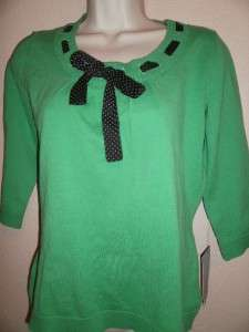 MERCER STREET STUDIO Womens Green Shirt Medium NWT $44