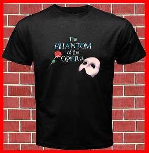 PHANTOM OF THE OPERA Mask Mens Black T Shirt S M to 2XL