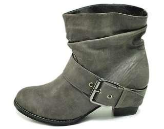 Short Western Cowboy Boots Women Size Fashion Gray BEAU GY