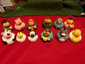 many Christmas Rubber ducksSt. Nick,Nativity,Bibical,Santa Toy Shop