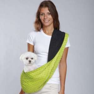 East Side Collection Sling Pet Dog Carrier Black/Green