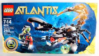 New LEGO Atlantis Deep Sea Striker 8076 Fast Shipping