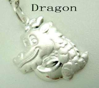 925 STERLING SILVER CHARM PENDANTS Zodiac Jewelry BEADS Dragon