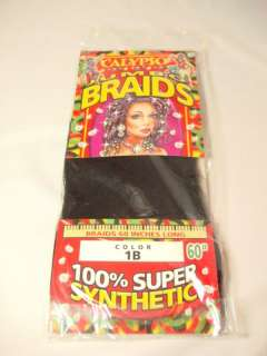 Calypso Jumbo Braids Black 60 long synthetic new