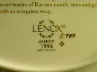 Lenox CHRISTMAS TREES AROUND THE WORLD 1996 RUSSIA
