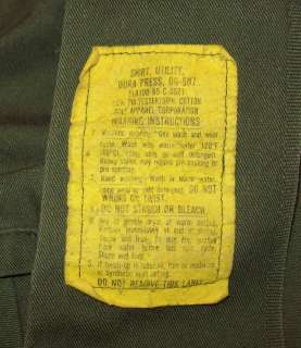 GREAT OLD VTG POST VIETNAM WAR USAF ARMY SATEEN MILITARY SHIRT W
