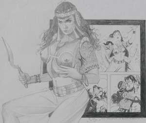 JIM SILKE Original Art, Betty Page / Bettie, Femme, 2006, Cleopatra