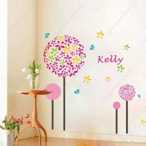 Big colorful dandelions removable vinyl art wall decals