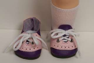 PURPLE & PINK Saddle Oxford Doll Shoes For 16 Terri Lee♥