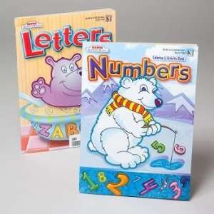 96 Page Coloring Book Letters & Numbers Case Pack 24