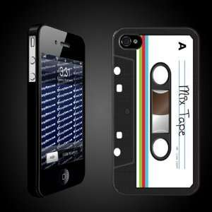 Case Designs   Cassette Tape Look BLACK Protective iPhone 4/iPhone