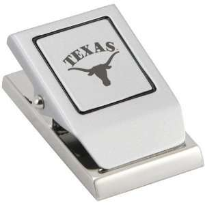 Texas Longhorns Brushed Metal Message Clip Sports