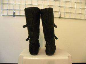 SHOE BE DOO Black Pony Hair Buckle Boots Shoes 39/9