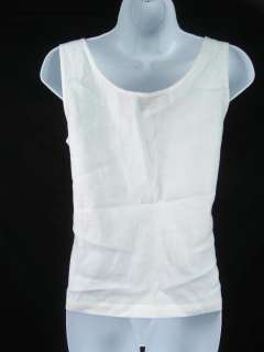 TANGO White Sleeveless Tank Top Shirt Size S
