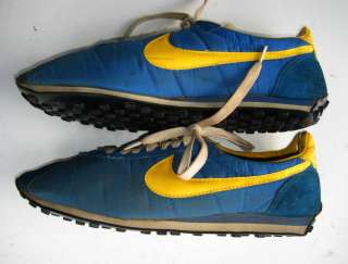 VINTAGE JAPAN NIKE WAFFLE RUNNING SHOES SNEAKERS BLUE/YELLOW