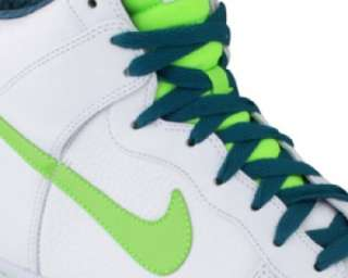 NIKE DUNK HIGH PREMIUM MENS WHT/ELECT GREEN SELECT SIZE
