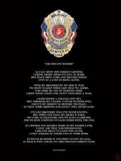 Military Soldier Marine USMC Semper Fi Poem Poster Print Novelty