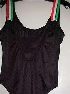 Black Italian Designer Workout Body Suit Choose Size