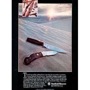 1979 Ad Smith Wesson Knives Firearms Steel Desert Bangor Punta Pistols