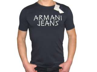 Authentic Armani Jeans Dark Blue T Shirt   M L XL XXL