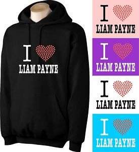 LOVE LIAM PAYNE HOODIE WITH RHINESTUD HEART (AT)