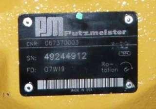 Putzmeister Concrete Axial Piston Pump 067370003 New