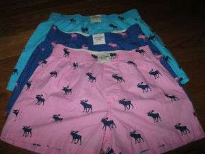 NWT Abercrombie & Fitch Mens Moose Boxer Shorts S,M,XL
