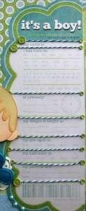 DDD Newborn Baby Boy premade scrapbook pages paper piecing