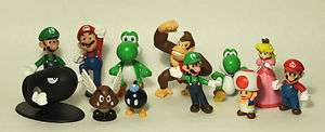 Super Mario Brothers   12 pc Collectible Figure Set B