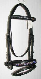 FSS Rhinestone Crystal CLEAR SUPER BLING Comfort BRIDLE with SWAROVSKI