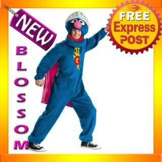 C137 Deluxe Sesame Street Super Grover Adult Costume