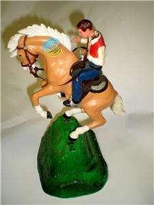 VINTAGE MARX TOYS BUCKING BRONCO COWBOY HORSE NODDER BOBBLE WEIGHTED
