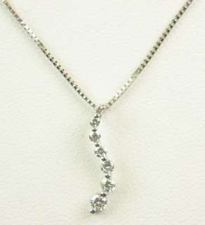 LADIES 14K WHITE GOLD DIAMOND JOURNEY ESTATE NECKLACE 162090
