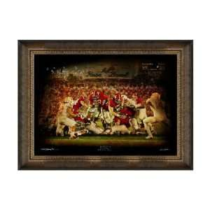 Alabama Crimson Tide Artwork Red Sea Parting 30x40 Framed Canvas