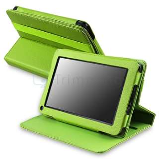 Accessory Bundles Green Leather Case+Screen Protector+Stylus For