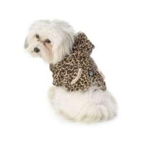 Nikos Leopard Print Hoodie Dog Coat Small