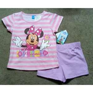 Girl Short Set Set, Disney Minnie Mouse, Size 5 Baby
