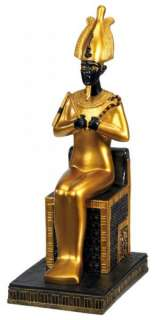 Egyptian Sitting Osiris Statue Figurine Seated Figure |