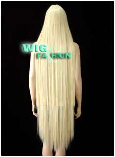 Super Long 48 in. Light Blonde Hair Wig FP03