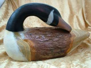 New Carved Wood Canadian Goose Geese Bird Folk Art