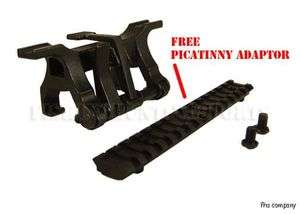 STANAG Steel Claw Mount Picatinny Rail GSG 5 Rifle .22