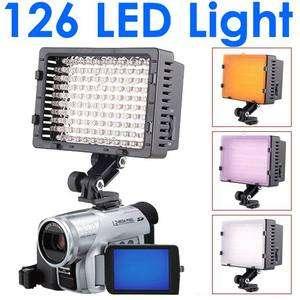 126 LED Light Lamp Camera DV Camcorder Nikon Canon Sony